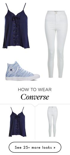 """""""Untitled #1"""" by alysalynn2203 on Polyvore featuring New Look, Sans Souci and Converse"""