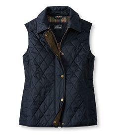 Quilted Riding Vest: Vests | Free Shipping at L.L.Bean $99 navy blue