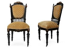 Baroque Upholstered Chairs, Pair on OneKingsLane.com. Refinishing idea for Eastlake chairs for dining room.