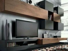 TV Unit Design Inspiration is a part of our furniture design inspiration series. Furniture Inspiration series is a weekly showcase of incredible designs Wall Unit Designs, Living Room Tv Unit Designs, Tv Wall Design, Home Living Room, Living Room Furniture, Tv Furniture, Living Spaces, Tv Regal, Tv Stand With Storage