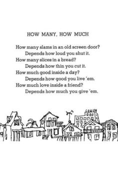 """How many, How much"" Shel Silverstein"