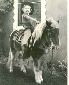"EVERY little girl wanted a pony - a REAL one. Santa got more requests for ponies than bikes. Every family had a picture of their kids in cowboy garb taken while sitting on a pony - photographers with ponies were everywhere (and all the parents heard on the ride home was ""pleeeeeeeeeeeeeeeease...can I have a pony???"")"