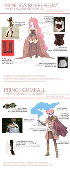 Princess Bubblegum and Prince Bubblegum - Steampunk Adventure Time