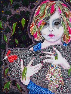 Del Kathryn Barton, First Fleet, Australian Art, Pigment Ink, Contemporary Paintings, Pattern Art, Japanese Art, Art Girl, Cotton Canvas