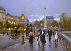 Chatelet by Edouard Léon Cortes Handmade oil painting reproduction on canvas for sale,We can offer Framed art,Wall Art,Gallery Wrap and Stretched Canvas,Choose from multiple sizes and frames at discount price. Georges Seurat, Maurice Utrillo, Pintura Exterior, Impressionist Artists, Post Impressionism, Art Database, Oil Painting Reproductions, New Artists, Monet
