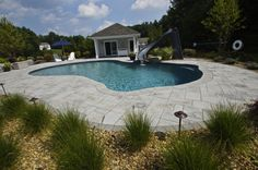 Aberdeen Stone - New England Beautiful Pool #triad #outdoorliving http://on.fb.me/1gt4Ta2