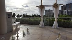 This gorgeous archway awaits a blissful couple on our beautiful Ivanka Terrace. Decor by @alwaysflowers808weddings