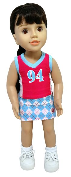 Go Team! Your doll will be able to go from the basketball court right to the hockey field in this 3 piece sport set. The tank can be paired with the basketball shorts or the uniform skort depending on...