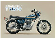 YAMAHA Poster TX650 Street 650 Twin 1973 Superb Suitable to Frame XS1 XS2 XS650   eBay