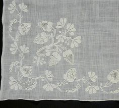 Fichu Western Europe, late 18th century Costumes; Accessories Cotton embroidery (chain-stitch, knotted, and drawn-work) on cotton mull 36 1/...