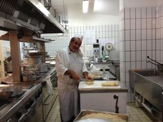 Hotel Zi' Teresa kitchen staff at work for dinner! Sorrento, Swimming Pools, Restaurant, Dinner, Kitchen, Furniture, Home Decor, Swiming Pool, Dining