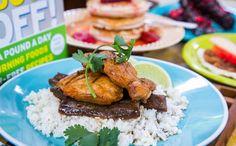 Chicken With Glazed Eggplant And Cauliflower Rice