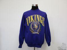 Vtg 90s Nutmeg Mills Minnesota Vikings Crewneck Sweatshirt sz XL Extra Large NFL Vintage by TCPKickz on Etsy