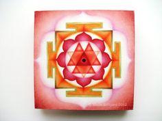 Goddess Durga Yantra oil painting spiritual art by GaneshasRat, $250.00