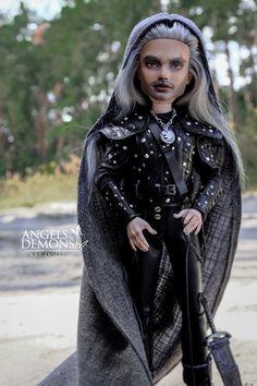 Monster High Boys, Custom Monster High Dolls, Monster Dolls, Monster High Repaint, The Witcher Geralt, Geralt Of Rivia, Doll Repaint, Jackson, Goth