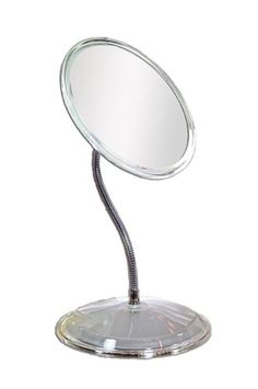 Zadro Gooseneck Vanity Makeup Mirror in Acrylic, Clear Acrylic Lighted Vanity Mirror, Wall Mounted Mirror, Mirror Mirror, Acrylic Frames, Clear Acrylic, Fish Tank Lights, Magnifying Mirror, Boxes For Sale, Brass Material
