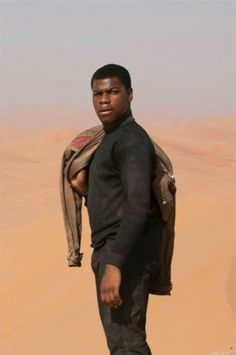 John Boyega in Star Wars: The Force Awakens