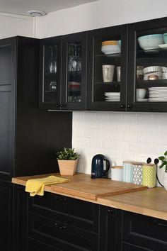 Travaux : Avant / Après – Transformation de la cuisine / Décoration / Maison / Ikea / Cuisine noire / Home sweet Home