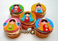 Cup-cakes Virgencitas Guadalupe. Mr.ponQ