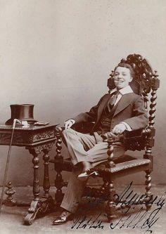 Vesta Tilley, professional male impersonator.