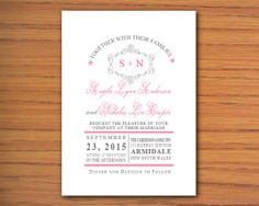 Beautiful Floral MS Word Wedding Invitation Template  by INKPOWER, $12.00