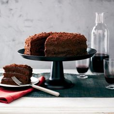 Chocolate Blackout Cake | Pastry star Gale Gand layers her phenomenal, high-rising cake with an intensely chocolaty custard and coats it with cake crumbs.