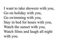 I want to take showers with you | I heart love