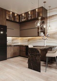 Home Design Decor, Interior Design Kitchen, Home Decor Kitchen, Kitchen Furniture, Luxury Dining Room, Small Room Bedroom, Cuisines Design, Ikea, Sweet Home