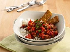 Ground Beef Curry ~ Indian influence is apparent in this as-good-as-authentic rice and beef bowl.