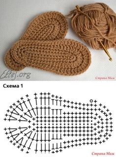 Crochet Sole, Crochet Slipper Pattern, Crochet Baby Sandals, Crochet Baby Booties, Crochet Slippers, Crochet Daisy, Free Crochet, Diy Crafts Crochet, Crochet Projects