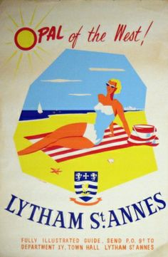 Lytham St Annes Opal of the West, 1960s - original vintage poster by H Jackson listed on AntikBar.co.uk