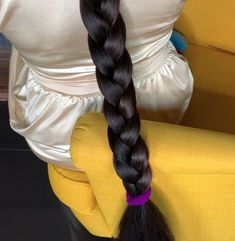 VIDEO - The queen of thick hair - RealRapunzels Really Long Hair, Super Long Hair, Beautiful Braids, Beautiful Long Hair, Slick Hairstyles, Braided Hairstyles, Braids For Long Hair, Braid Hair, Wavy Hair