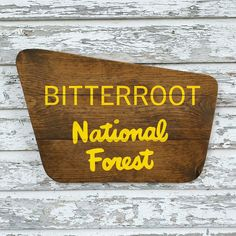 Excited to share this item from my #etsy shop: National Forest Sign, Customizable Hand Painted Sign