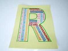 Alphabet Letter R is for Ribbon.      Alphabet Letter R is for Ribbon! How darling is this Alphabet Craft