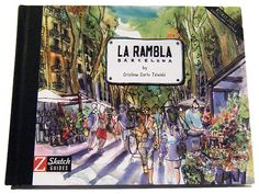 The Rambla's sketched by Cristina Curto