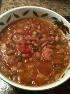 Pinto Beans with Stewed Tomatoes