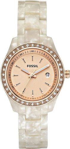 #Fossil #Women's ES2864 Stella Rose Gold Dial Watch...$81.90