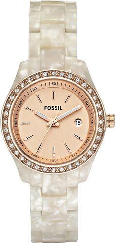 #Fossil #Women's ES2864 Stella Rose Gold Dial Watch
