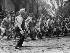 Ngāti Porou leader and scholar Āpirana Ngata helped organise the celebrations for the centennial of the signing of the Treaty of Waitangi in and the construction and opening of a carved house at Waitangi. He is seen here leading a haka at the . Tonga, Tahiti, Treaty Of Waitangi, Waitangi Day, Polynesian People, Maori Designs, Discipline, Maori Art, Local History