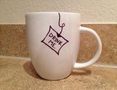 Moi boire la tasse de thé