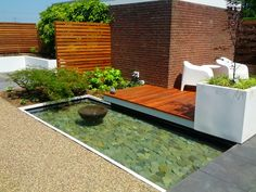 water feature small space patio