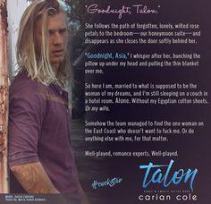 Talon - Ashes & Embers book 4 Model: Justin Zabinski, photo by Maria Seidel Ashmore