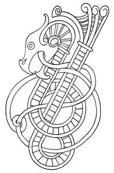 Rough Outline For New Viking Style Dragon