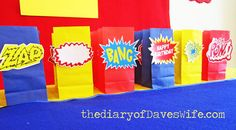 Superman / Birthday Its a Bird, Its a Plane,...Its a Superman Birthday Party! Treat Bags.