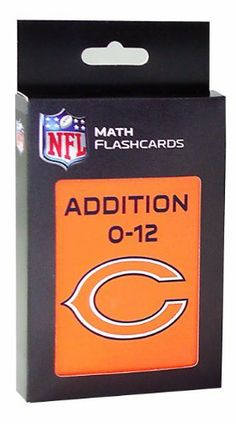 NFL Chicago Bears Addition Flash Cards by KE Specialties. $8.39. A Proven Learning Tool That Helps Reinforce and Build Math Skills. Goes Anywhere and Can be Used Alone or With Others. Includes One Box of Addition Flash Cards. Large, 3 1/2 x 5 1/2 Cards Makes it Easy for Kids to Handle and Read.. A Great Way to Interest Your Child in Math and Make Learning Fun. Looking for an exciting way to help your child improve their addition facts? These large, easy to handl... Learning Tools, Fun Learning, Addition Flashcards, Build Math, Addition Facts, Nfl Chicago Bears, Multiplication Facts, Math Skills, Card Making