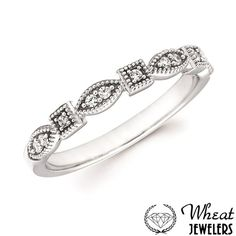 Princess Cut and Marquise Shaped Diamond Accent Wedding Band with Milgrain Edges