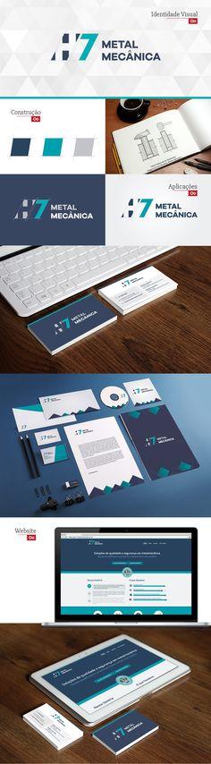 [ Moopix ] H7 Metal Mecânica - branding, identidade visual, papelaria, site responsivo. #moopix #moopixdesign #moopixweb  #design #webdesign #brand #branding #layout #press  http://moopix.com.br