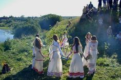 Slavic tribal ceremonies circle