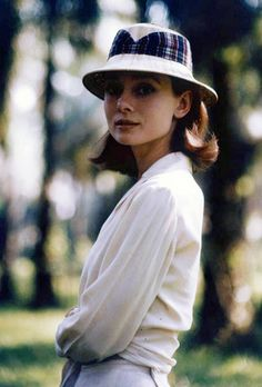 "Audrey Hepburn on location for the film ""The Nun's Story,"" 1958."
