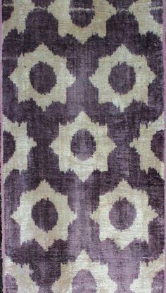 Silk Velvet, uzbek ikat fabric, 3 yard, K318